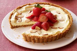Tarte aux fraises vanille-amande recette