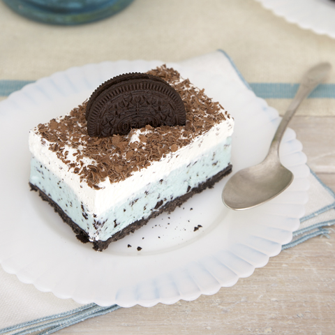 OREO Frozen Grasshopper Squares Recipe
