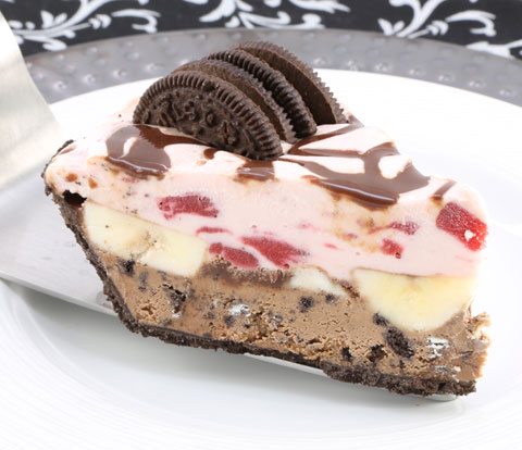 Banana Split Pie made with OREO Pie Crust and OREO Cookies Recipe