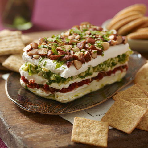 Layered Sundried Tomato and Artichoke Spread Recipe