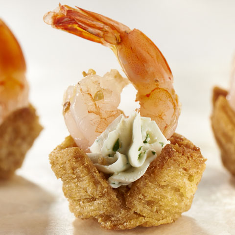 Garlic-Shrimp Cups Recipe
