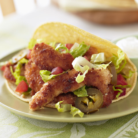 Chicken Milanese Strip Tacos Recipe