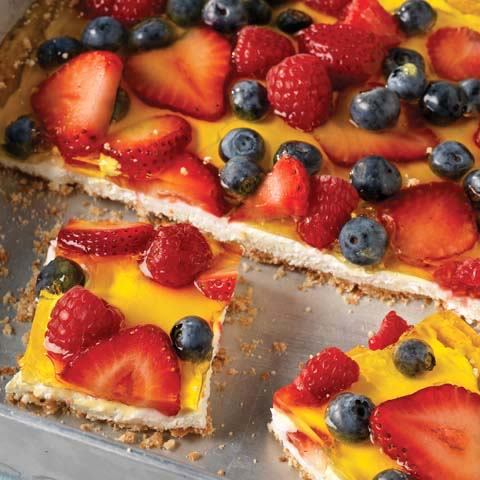 Triple-Berry Cheesecake Squares Recipe