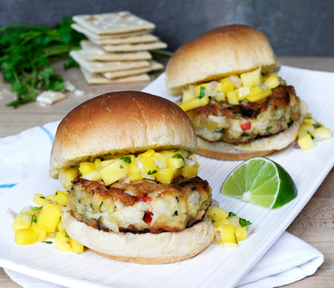 Latin-Style Crab Cake Sandwich with PREMIUM Saltines Recipe
