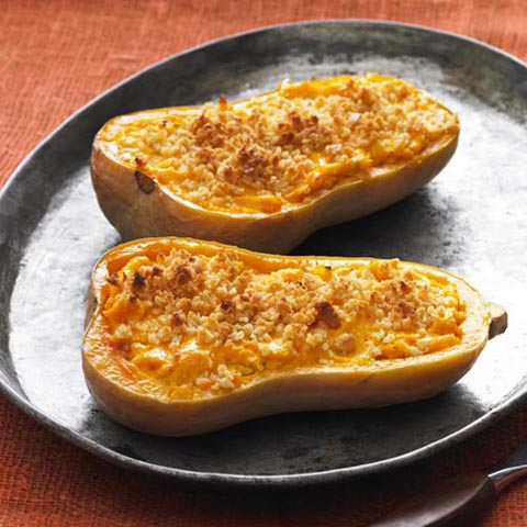 Cheesy Stuffed Butternut Squash Recipe