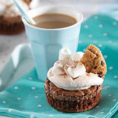Hot Chocolate-Brownie Cupcakes Recipe