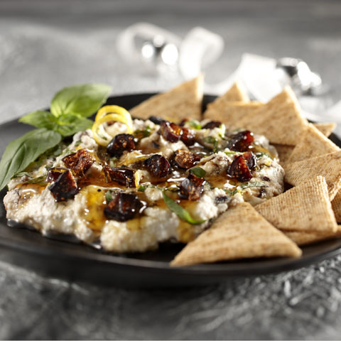 Citrus-Ricotta Spread with Figs, Honey & Basil Recipe