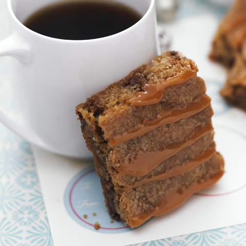 Caramel Nougat Blondies Recipe