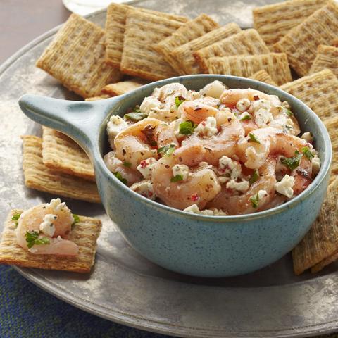 Garniture de crevettes style bruschetta recette