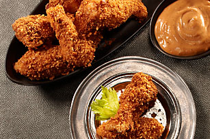 RITZ Crispy-Coated Chicken Wings with Playbook Sauce Recipe