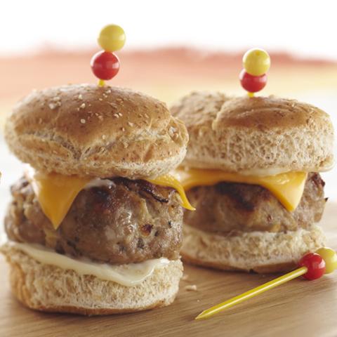 Petits burgers dinde-pomme recette