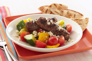 Kabobs with Greek Salad Recipe
