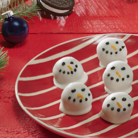 OREO Snowman Cookie Balls Recipe Impressive How To Decorate Oreo Balls