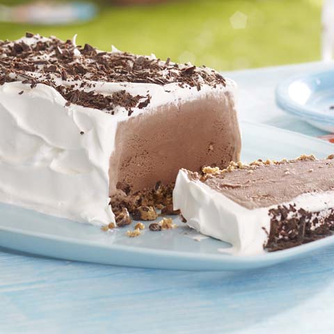 Chocolate Cookie Ice Cream Slice Recipe