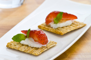 TRISCUIT Ricotta & Strawberry Recipe