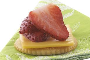 Bouchées au fromage et aux fraises recette