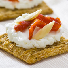 TRISCUIT Goat Cheese & Sun-Dried Tomato Toppers Recipe