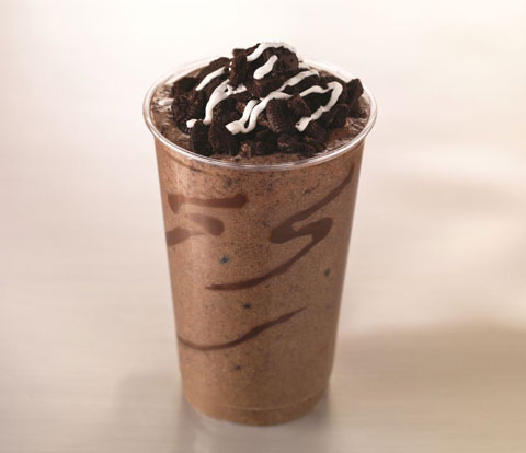 Double-Chocolate Milkshake made with OREO Cookies Recipe