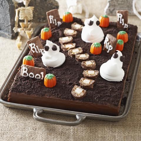 Gâteau cimetière effrayant recette