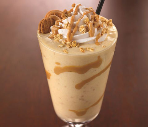 Peanut Butter & Banana Crunch Milkshake with NUTTER BUTTER  Recipe