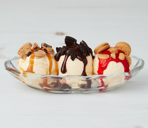 Cookie Jar Sundae with CHIPS AHOY! Cookies, NUTTER BUTTER Pieces & OREO Pieces Recipe