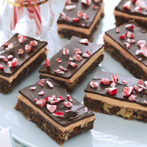 HONEY MAID Candy Cane Nanaimo Bars Recipe