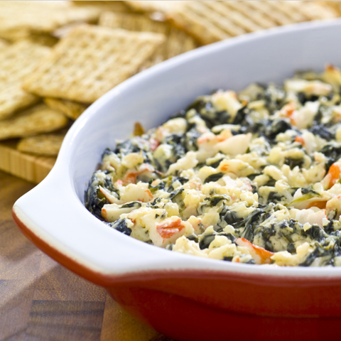 TRISCUIT Warm Spinach & Crab Dip Recipe