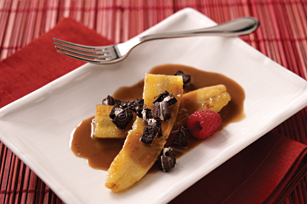 Caramelized Bananas with Chocolate-Rum Sauce Recipe