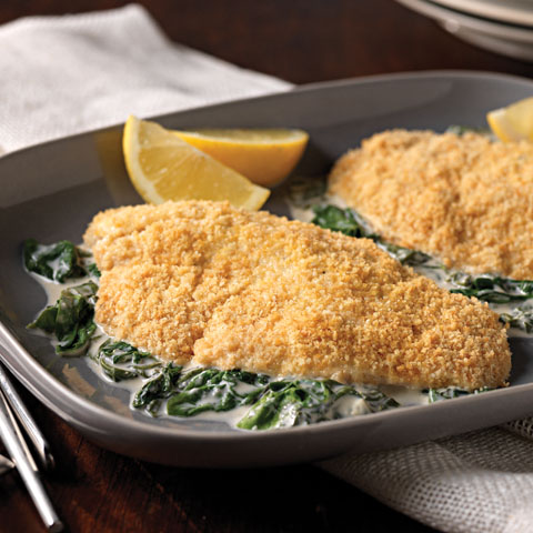 Lemon-Pepper Tilapia Florentine Recipe