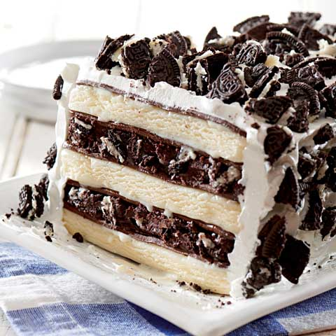 OREO & Ice Cream Sandwich Cake Recipe