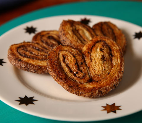 Palmiers made with OREO Base Cake Recipe