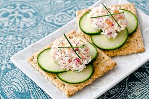 Bouchées au concombre et au saumon fumé recette