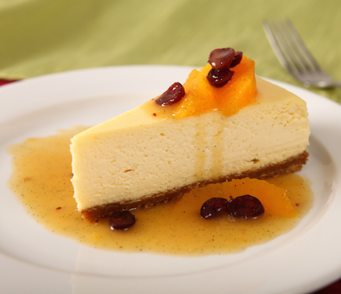 Cheesecake with Orange-Cranberry Sauce & NABISCO Grahams Recipe