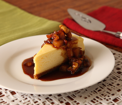 Cheesecake & Spiced Pear-Nut Compote with NABISCO Grahams Recipe