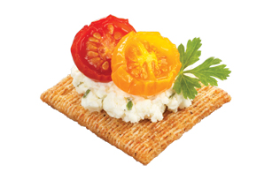 TRISCUIT Herb Cheese & Roasted Tomato Topper Recipe