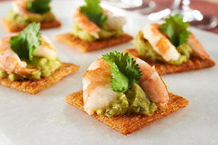 TRISCUIT Shrimp, Guacamole & Cilantro Topper Recipe