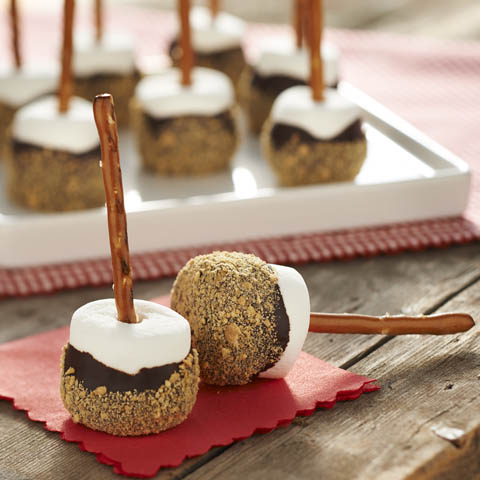 S'More Marshmallow Pops Recipe