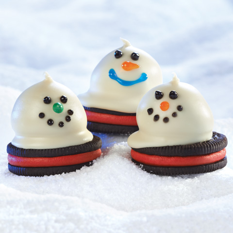 Melting Snowmen OREO Cookie Balls Recipe