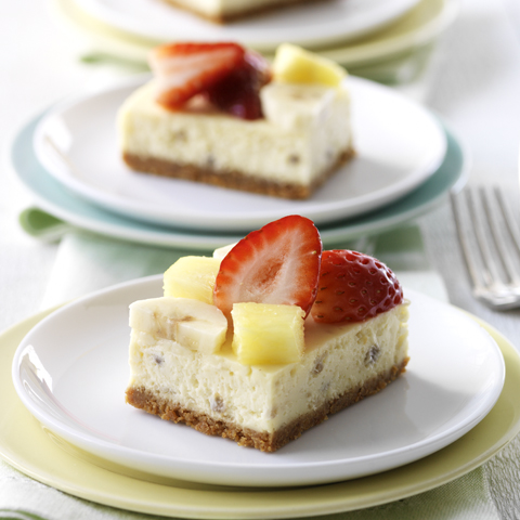 HONEY MAID Banana Split Cheesecake Squares Recipe