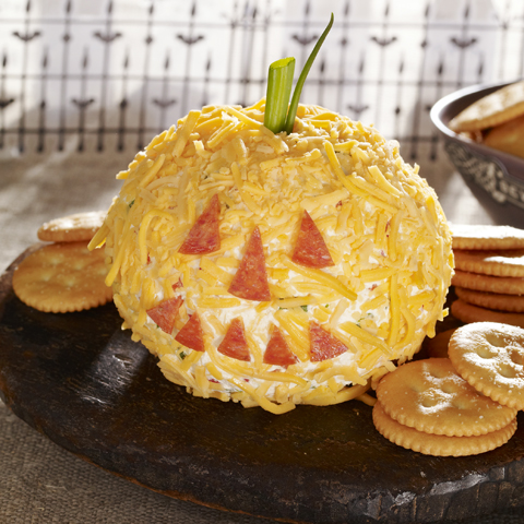 RITZ Cheesy Jack-o'-Lantern Recipe