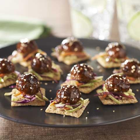 Asian-Glazed Meatball Sliders Recipe