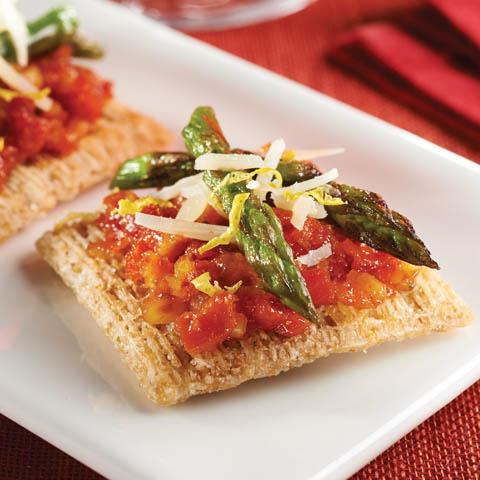 Grilled Parmesan-Asparagus Topper Recipe