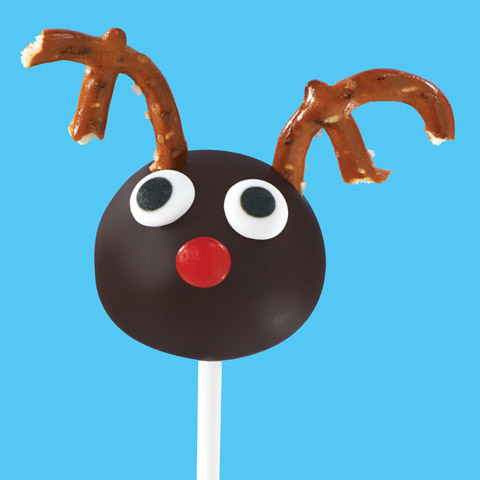 OREO Reindeer Cookie Ball Pops Recipe