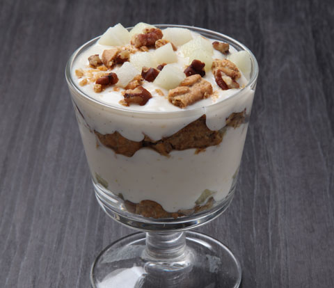Yogurt & Melon Parfait with BELVITA Breakfast Biscuits Recipe