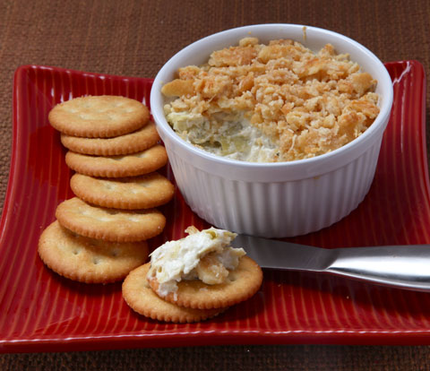 Creamy Artichoke Bake with RITZ Crackers Recipe