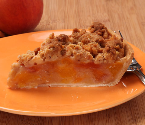 Peach Pie with NILLA Crumble Topping Recipe