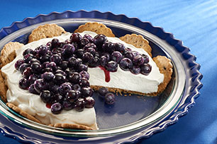 Vanilla-Blueberry Yogurt Pie Recipe