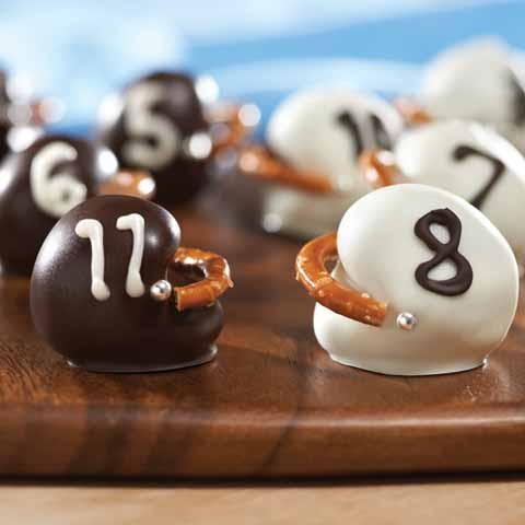 OREO Cookie Ball Football Helmets Recipe