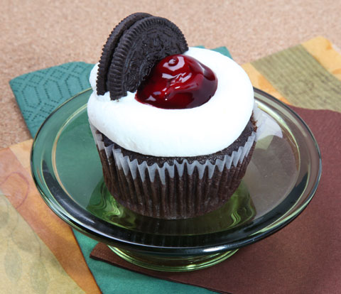 Black Forest Cupcakes with OREO Cookies Recipe