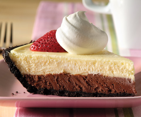 Easy Double-Chocolate Layer Cheesecake Recipe